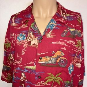 Harley Davidson Hawaiian shirt 2XL RARE